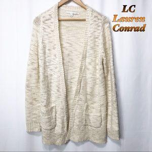 LC-Lauren Conrad-Cream oversized pocket cardigan S